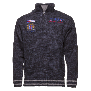 Thor Nordic style sweater half zip