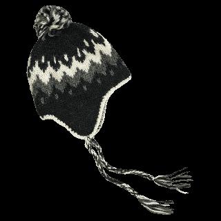 Vík woolen hat with ear flaps