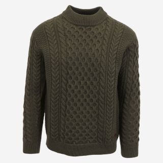 Hallgeir wool cable knit sweater