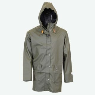Brim classic long raincoat