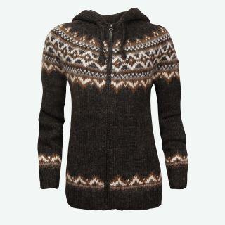 Brynja Icelandic wool jumper with zip and hood