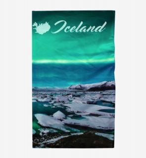 Multi scarf with northern lights One Size