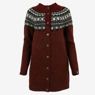 Fróðný long wool cardigan