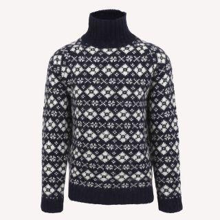 Gestur Turtleneck Wool Norwegian Sweater
