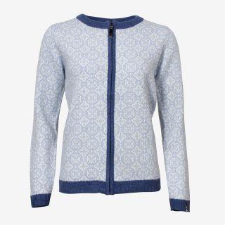 Hrönn Norwegian wool sweater full zip