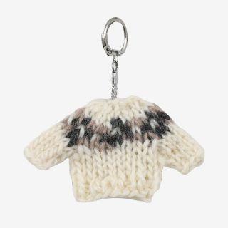 Keychain Wool sweater white
