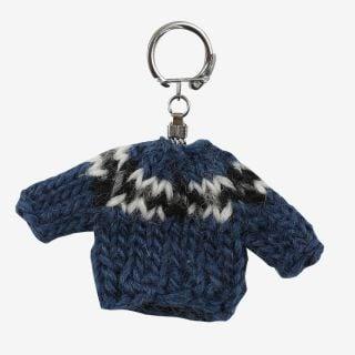 Keychain Wool sweater blue