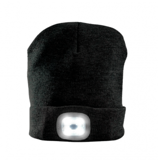 Black Beanie with headlight