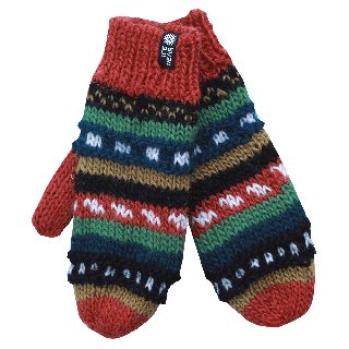 MAGNEY Hand knitted wool mittens