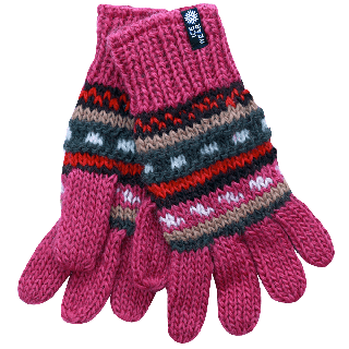 MAGNEY Hand knitted wool gloves