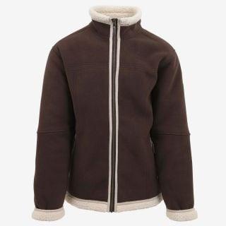 Mokka sherpa fleece jacket