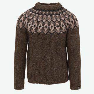 Snorri mens handknitted wool sweater