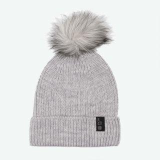 Vigur wool warm hat with pompom