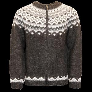Skjöldur Icelandic wool sweater full zip