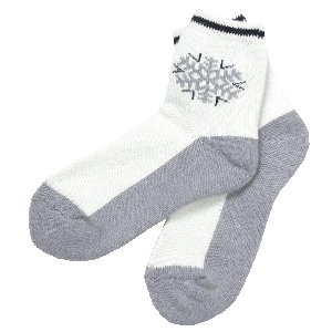 Angora Socks With a Snowflake