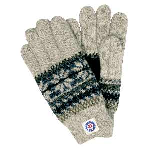 Woolen gloves in Nordic style