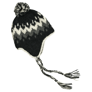 Vík woolen hat with ear flaps