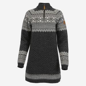Alexandra half-zipped merino long sweater