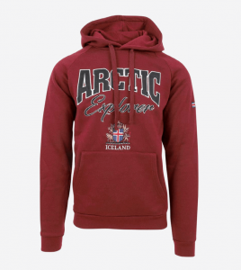 Arctic Explorer hooded red sweater