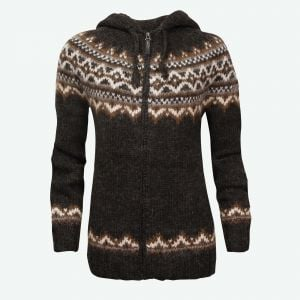 Brynja Icelandic wool sweater zip & hood