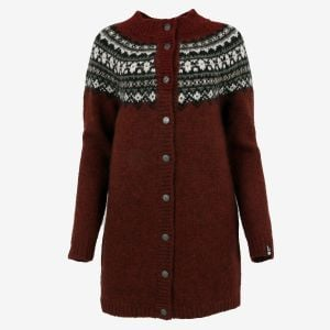 Fróðný long wool cardigan