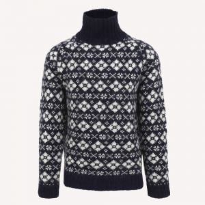 Gestur Turtleneck Wool Norwegian Sweater