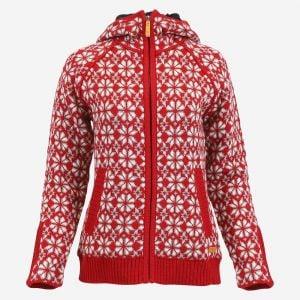 Helga Norwegian lined wool sweater jacket