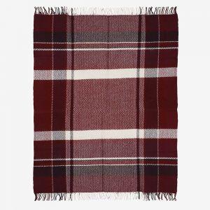 Hlýja wool plaid blanket