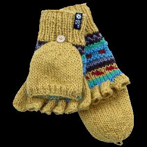 MAGNEY Hand knitted fingerless wool gloves