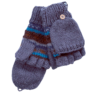 MAGNEY Hand knitted fingerless wool gloves