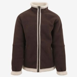 Mokka sherpa fleece jacket