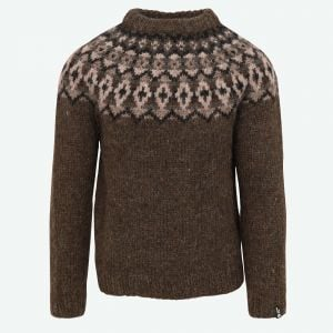 Snorri mens handknitted wool sweater