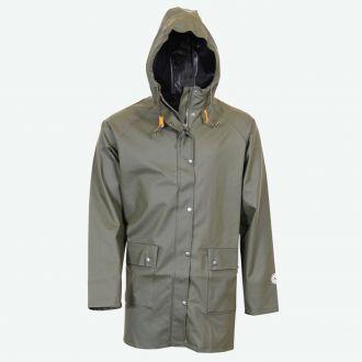 Brim classic long raincoat