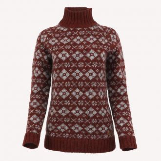 Gerdur Turtleneck Wool Sweater red