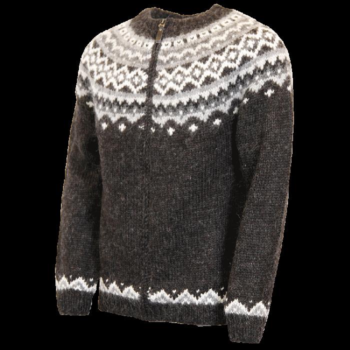 Skjöldur Icelandic wool sweater with zipper | Icewear