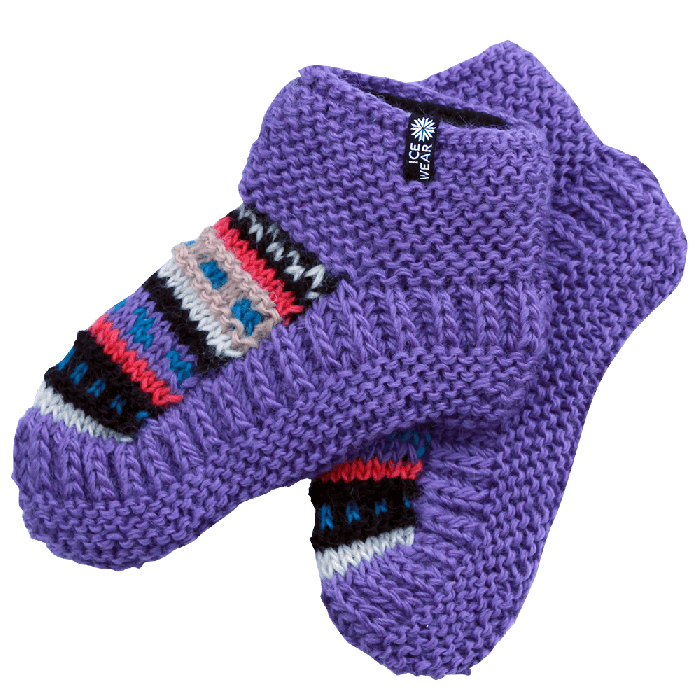 Wool socks hand knitted