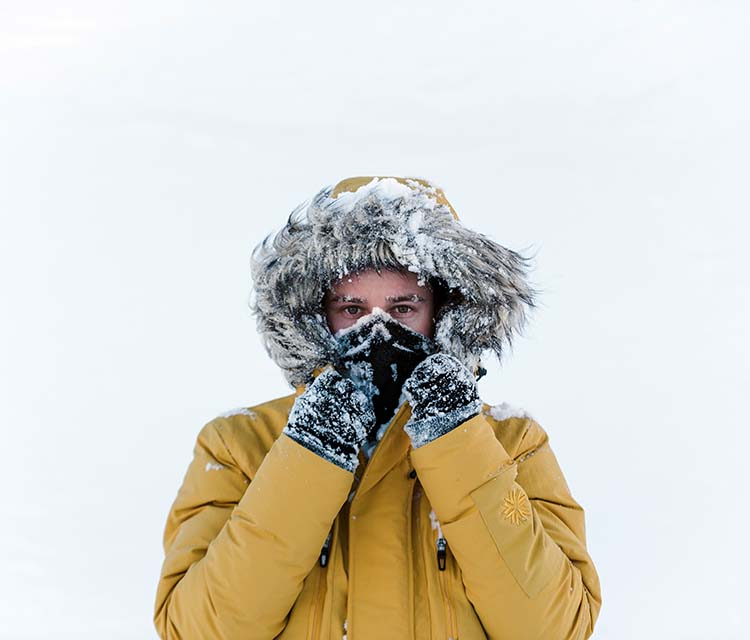 Warm down jackets for men