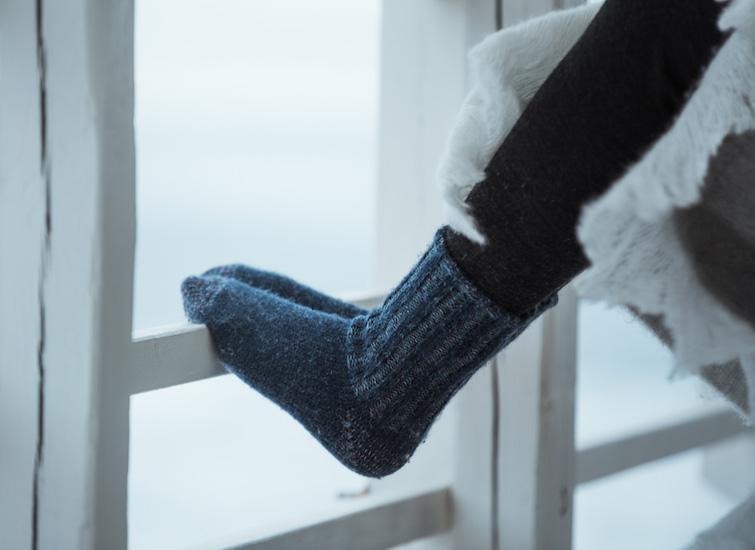 Warm socks for outdoor activities