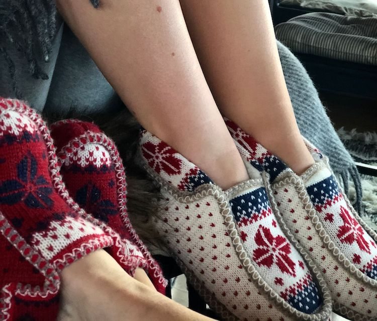 Knitted Nordic slippers
