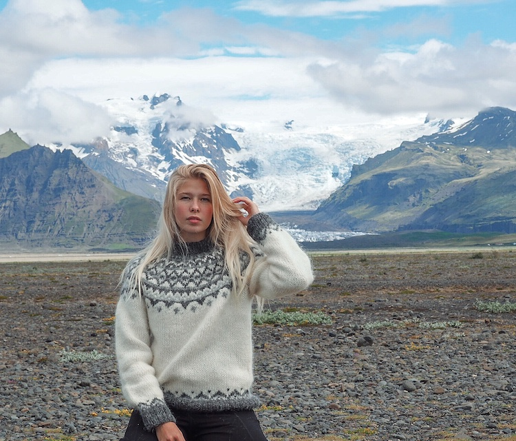 Wool sweaters with Nordic designs