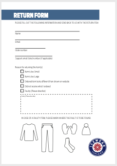 Please fill out this return PDF
