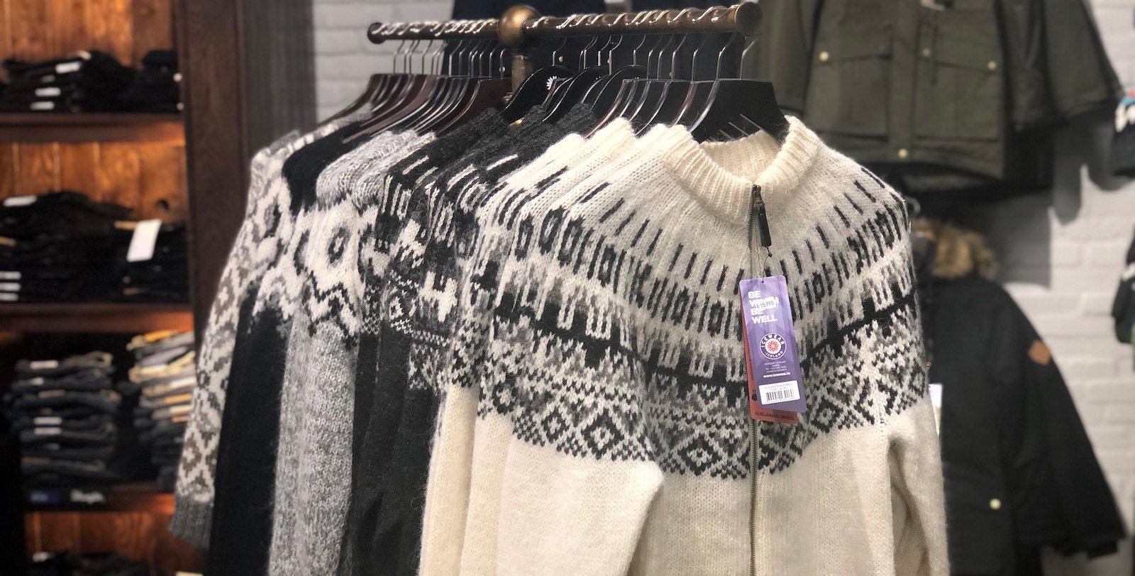 sweaters with Icelandic pattern