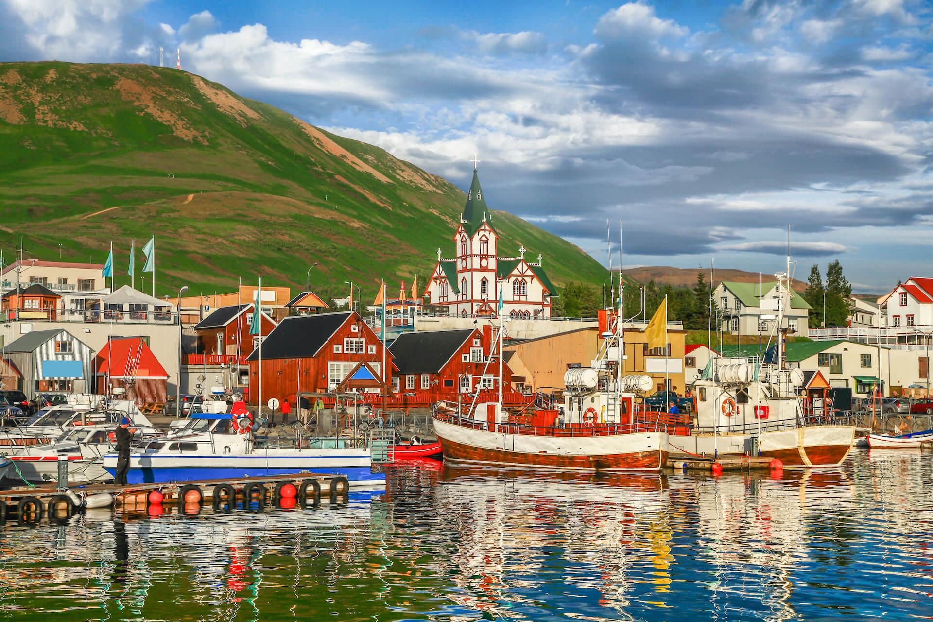 Húsavík fishing village